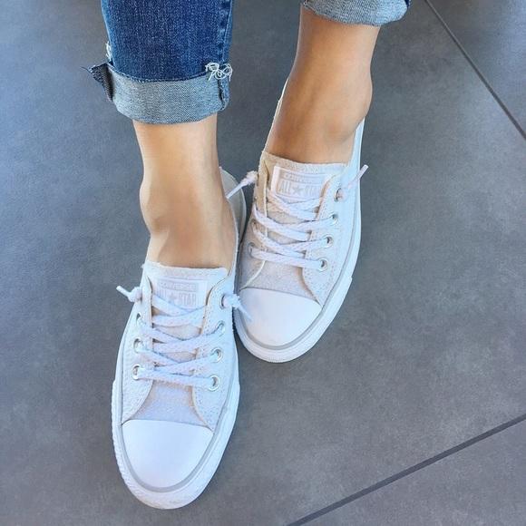 Converse Shoreline Linen Sneaker Oyster Gray NWT